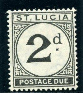 St Lucia 1933 KGV Postage Due 2d black MLH. SG D4. Sc J4.