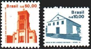 Brazil. 1987. 2212a-13a. St. Lawrence Native American Church and Matosinhos C...