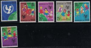 Togo SC411-416 UNICEF Emblem-ChildrenDancing AroundGlobe (H)