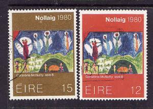 Ireland-Sc#489-90-used-Angels-Christmas-1980-