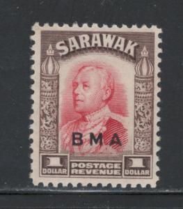 Sarawak 1945 Sir Charles Vyner Brooke Overprint $1 Scott # 149 MH
