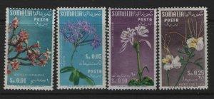 SOMALIA, 198-201, (4)SHORT SET, HINGED, 1955, FLOWERS