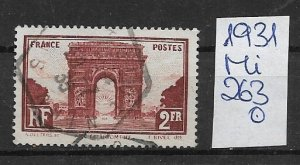 France used  1931 263   offers accepted
