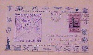 US   PATRIOTIC  1943 SEAL,RIFFLE CACHET