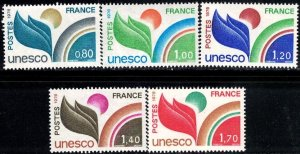 UNESCO, France stamp SC#2016-2020 MNH set