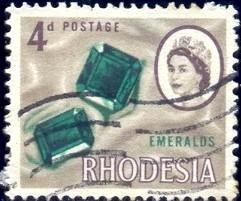 Emeralds, Rhodesia stamp SC#226 used