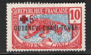 Ubangi-Shari Scott B2 MH* Red Cross semi-postal