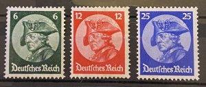 Germany 1933 Sc #398-400 Mi 479-481 Mint *NH* Mi-CV 379$