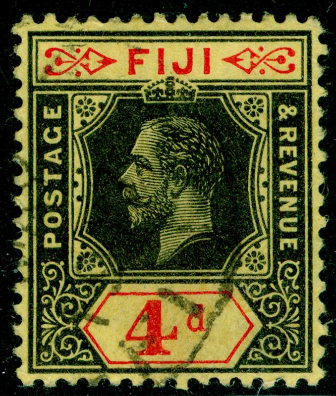 FIJI SG131c, 4d black & red/yellow, FINE USED, CDS. Cat £14.