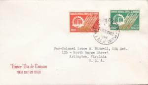 United Nations Food & Agricultural Organization 1963. Peru Gen Iss+Air Mail FDC
