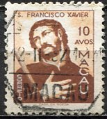 Macao; 1951: Sc. # 357, O/Used Single Stamp
