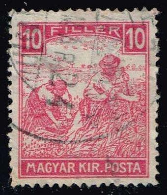 Hungary #106 Harvesting Wheat; Used (0.25)