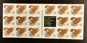 2595a    Brown Eagle, Pane of 17  MNH  29 c B2222-1    1992