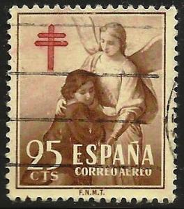 Spain Air Postal Tax 1953 Scott# RAC13 Used