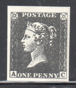 Great Brittain Mint #1 NH -- REPRINT / Facsimile - The Penny Black