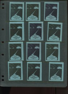 VINTAGE LOT OF 12 1931 MAGIC Poster Stamps SOCIETY OF AMERICAN (L1114)