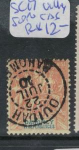 French Dahomey SC 17 Village Cancel VFU (4dvz)