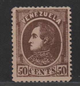 $Venezuela Sc#72 M/F-VF, no gum, tiny corner crease, Cv. $92.50
