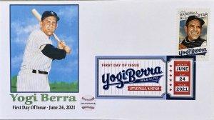AFDCS Baseball's Yogi Berra at Bat All Star DCP All Star Stamp Little Falls NJ