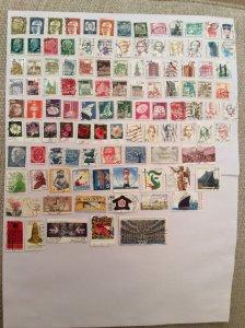 German 100+ stamps - Lot W