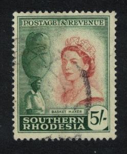 S. Rhodesia Basket maker 5Sh canc SG#89