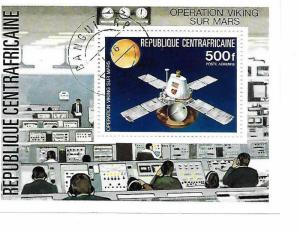 Central African Rep. SC C154 Souv.Sht.Viking Flight To Mars MNH 1976