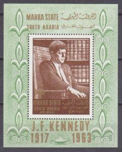 1967 Aden Mahra State 24/B1 John F. Kennedy 12,00 €