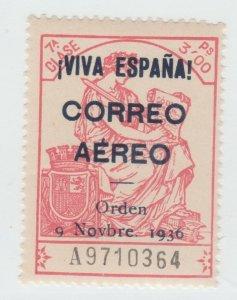 Spain Airmail Postal Revenue Stamp 9-11-21- MNH Gum - scarce as mnh