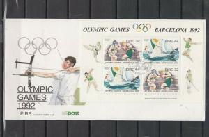 Ireland, Scott cat. 855a. Barcelona Olympics issue on a First day cover.