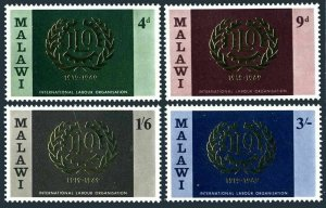 Malawi 110-113,MNH.Michel 106-109. International Labor Organization ILO,50,1969.