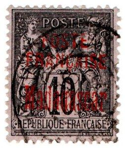 (I.B) Madagascar Postal : Overprint 10c