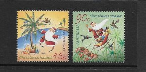 CHRISTMAS ISLAND #452-3 CHRISTMAS 2005  MNH
