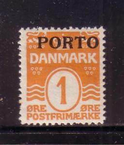 Denmark Sc J1 1921 Postage Due stamp mint