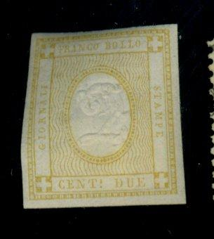 Italy #P1 MINT F-VF OG HR Cat$52.50