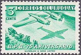Uruguay # 598 mnh ~ 3¢ Airplane and Stagecoach, UPU