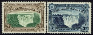 SOUTHERN RHODESIA 1932 VICTORIA WATERFALL SET 2D AND 3D