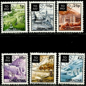 GIBRALTAR Sc#J20-J25 1996 Postage Due Complete Set Used