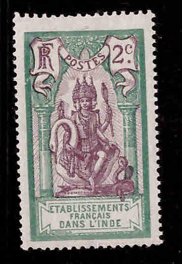 FRENCH INDIA  Scott 27 MH* Brahma stamp