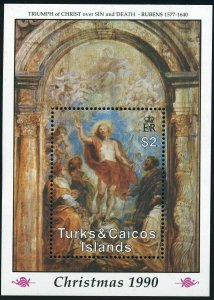 Turks & Caicos 876-877,MNH.Michel Bl.94-95. Paintings by Peter Paul Rubens,1990.