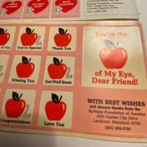 Vintage Epilepsy Foundation charity stickers stamps seals cinderellas