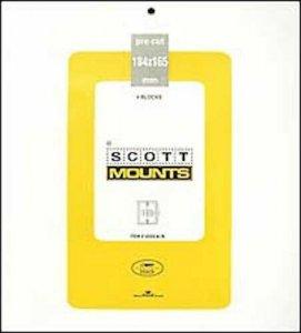 Scott/Prinz Pre-Cut Souvenir Sheets Small Panes Stamp Mounts 184x165 #1022 Black
