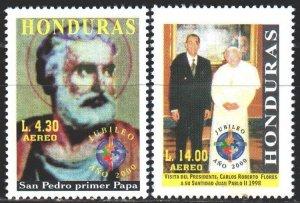 Honduras. 2000. 1507-8. Pope paul 2. MNH.