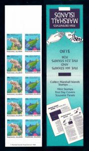 [49735] Marshall Islands 1988 Marine life Fish MNH Booklet
