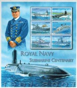 Sierra Leone MNH S/S Royal Navy Submarine Centenary X-Large Size