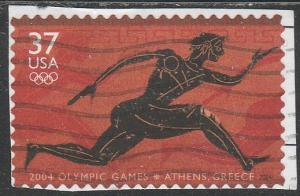 3863 - .37 Olympic Games Athens used f-vf.