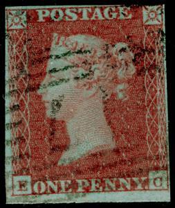 SG8, 1d red-brown, USED. Cat £30. EC