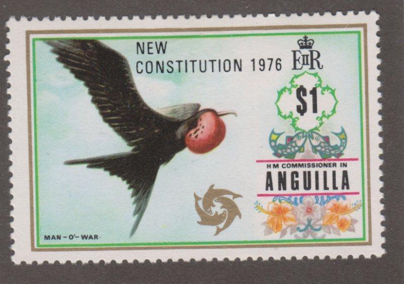 Anguilla 243 Man-o-war bird O/P 1976
