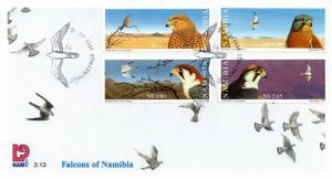 Namibia - 1999 Falcons FDC SG 836-839