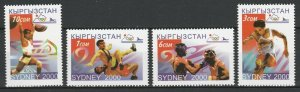 Kyrgyzstan 2000 Olympic Games - Sydney 4 MNH stamps