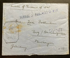 1940s Dehra Dun India POW Internment Camp 4 Cover To Berg Germany E Bethmann 3